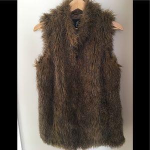 Rachel Zoe long length Faux Fur Women's Vest